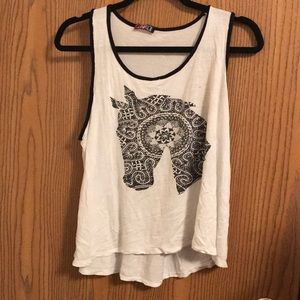 Horse tank top style crop top